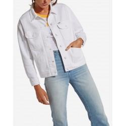 Wrangler  White Damaged Retro Jacket