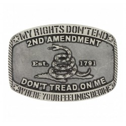 Montana Silversmith Second Amendment Rights Buckle