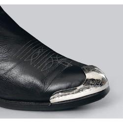 Punta arrotondata per stivali in argento placcato