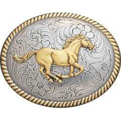 Nocona Vintage Running Horse Buckle