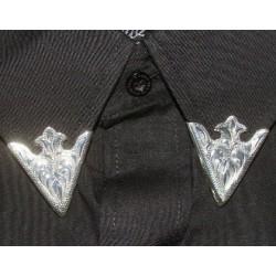 Austin Engraved silver collar tips