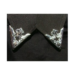 Austin Star silver collar tips