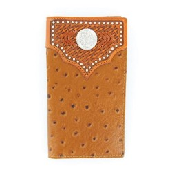 Nocona Ostrich Concho Circle Rodeo Wallet