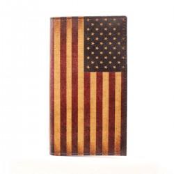 Nocona Western Mens Wallet Rodeo Vintage USA Flag