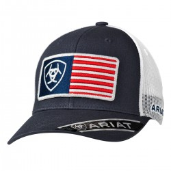 Ariat® Western Men's USA Flag Ball Cap