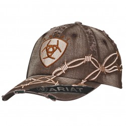 Ariat Boots Cap with Barbwire and logo