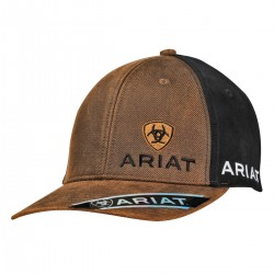 Ariat Western Hat Baseball Cap Logo Black Brown