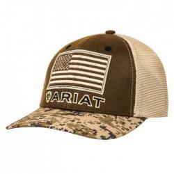 Ariat Mens Digital Camo US Flag Mesh Cap