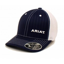 Ariat Baseball Cap Pinstripe Mesh Snap Back Navy