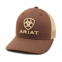 Ariat Baseball Brown and Khaki Embroidered Logo