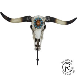 Cow Skull W/Single Hook