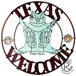 Metal Texas Welcome Plaque