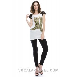 VOCAL LACE CAP SLEEVES TEE