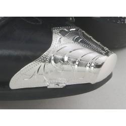 Punta snip per stivali in metallo argentato
