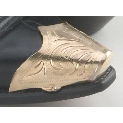 Punta snip per stivali in metallo dorato