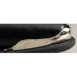 Punta per stivali in argento placcato inciso